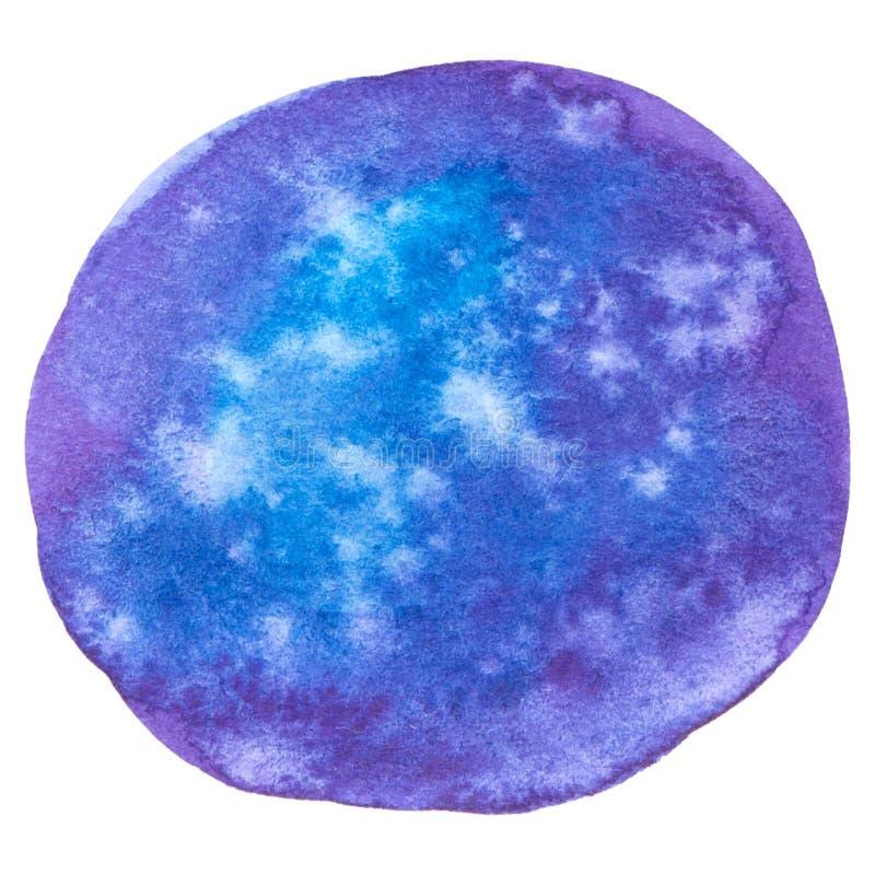 Wektorowe round purpury malują teksturę odizolowywającą na bielu dla Twój projekta ilustracji