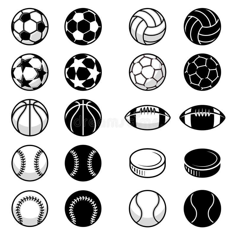 Wektorowe sport piłki i wyposażenie ilustracje ilustracja wektor