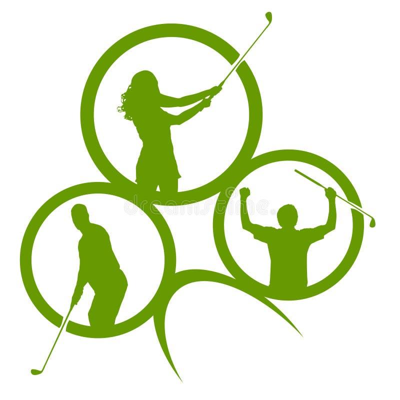 Wektorowe sylwetki golf royalty ilustracja