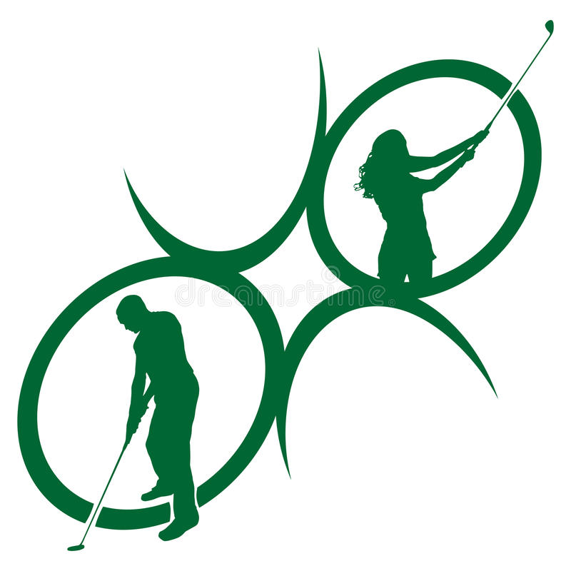 Wektorowe sylwetki golf ilustracja wektor