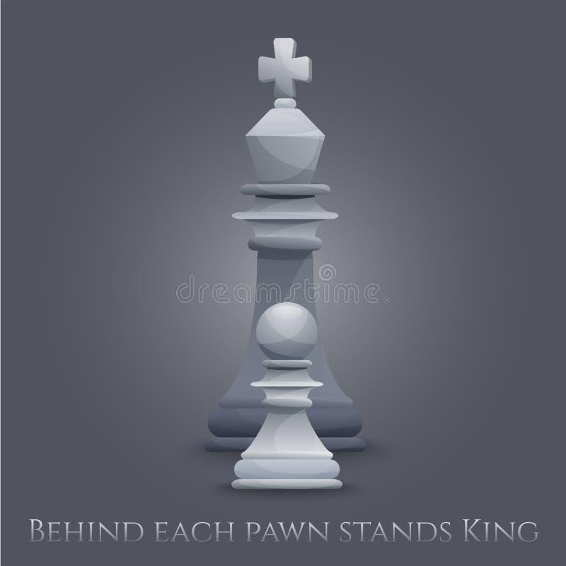Wektorowe szachy postacie ilustracja wektor