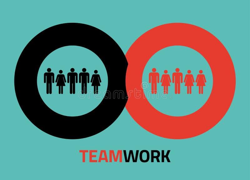 Wektorowe teamork ikony dla infographics ilustracji