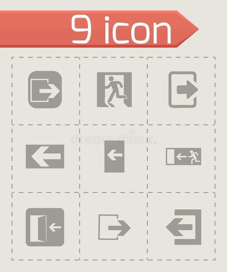 Wektorowe wyjście ikony ustawiać ilustracja wektor