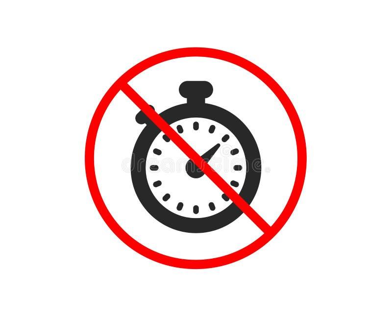 Wektorowe zegar ikony ustawiać Stopwatch znak wektor royalty ilustracja
