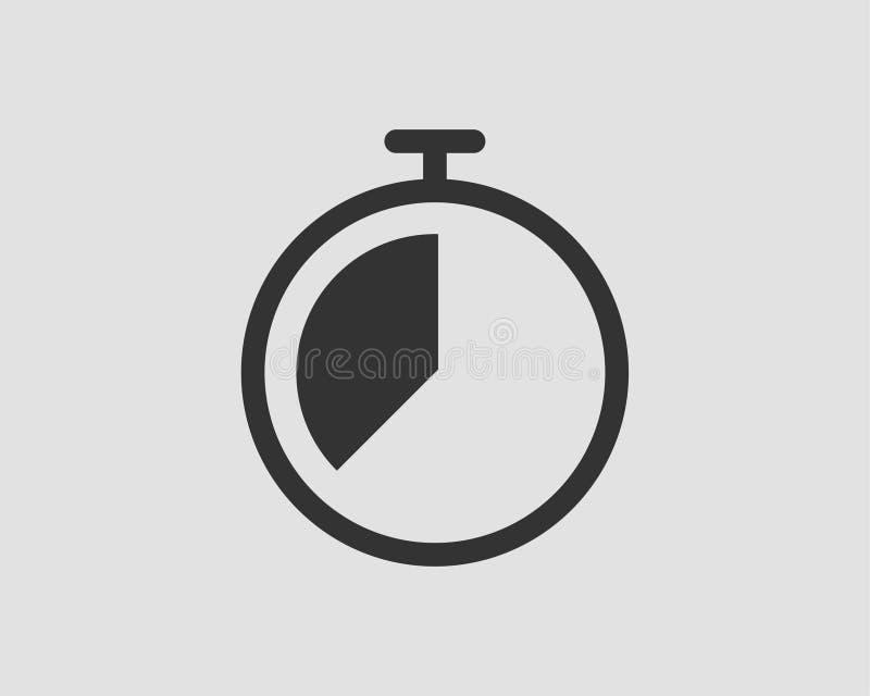 Wektorowe zegar ikony ustawia? Stopwatch wektoru piktogram Stopwatch odizolowywaj?cy na bia?ym tle ilustracji