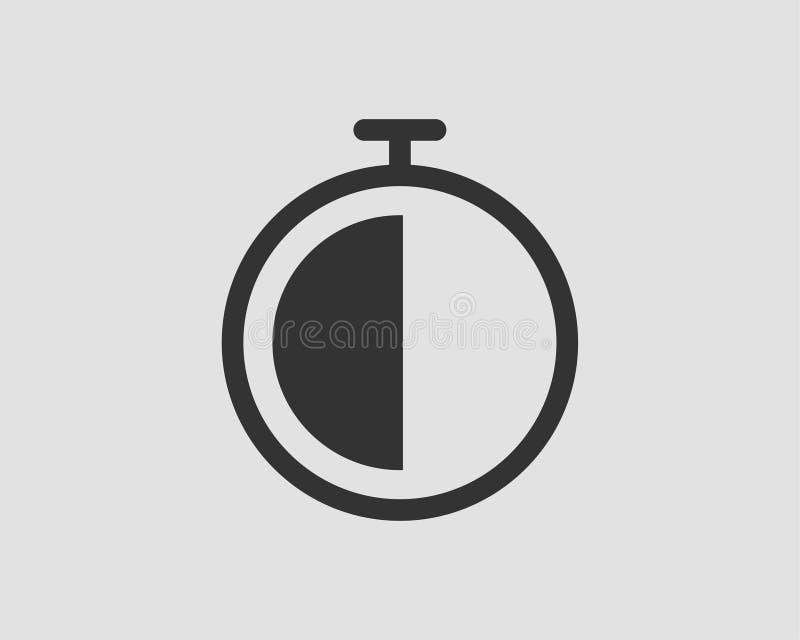 Wektorowe zegar ikony ustawia? Stopwatch wektoru piktogram Stopwatch odizolowywaj?cy na bia?ym tle ilustracja wektor