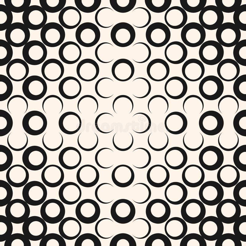 Wektorowego abstrakcjonistycznego geometrycznego promieniowego halftone bezszwowy wzór Modny nowożytny projekt dla wystroju, cyfr royalty ilustracja