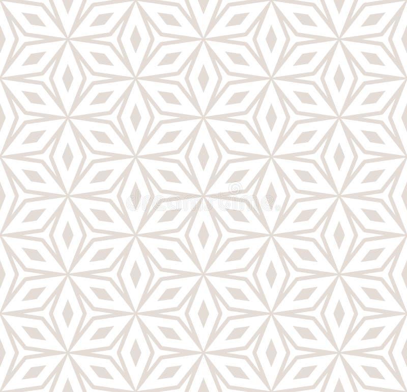 Wektorowego abstrakcjonistycznego ornamentu bezszwowy wzór w pastelowych kolorach, kwiaty ilustracja wektor