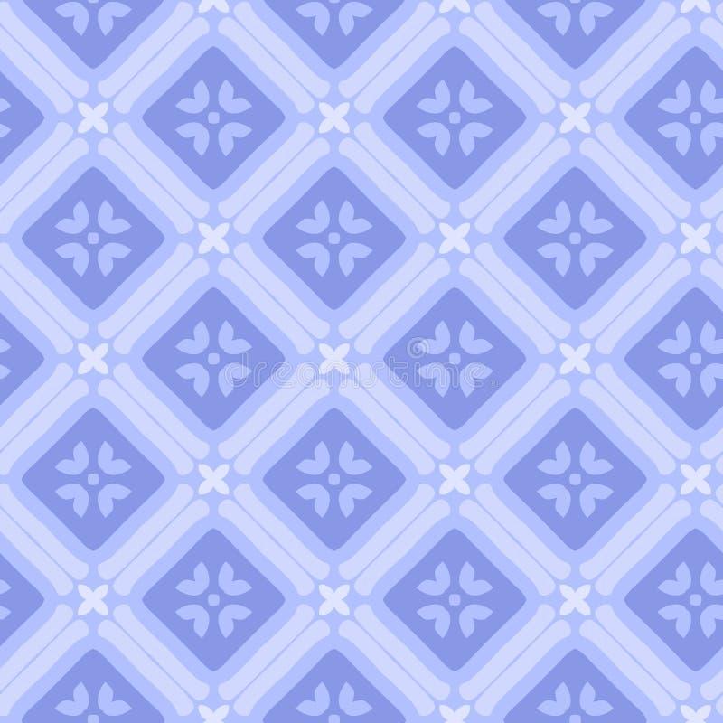 Wektorowego abstrakcjonistycznego ornamentu kwiecisty bezszwowy deseniowy tło ilustracji