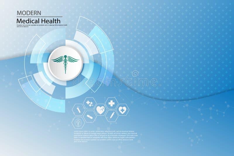 Wektorowego abstrakcjonistycznego tła opieki zdrowotnej pojęcia medyczny szablon ilustracja wektor