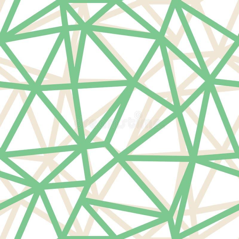 Wektorowego Abstrakcjonistycznego trójboka Geometrical zieleń Zarysowywa tło Stosowny dla tkaniny, prezenta opakunku i tapety, royalty ilustracja