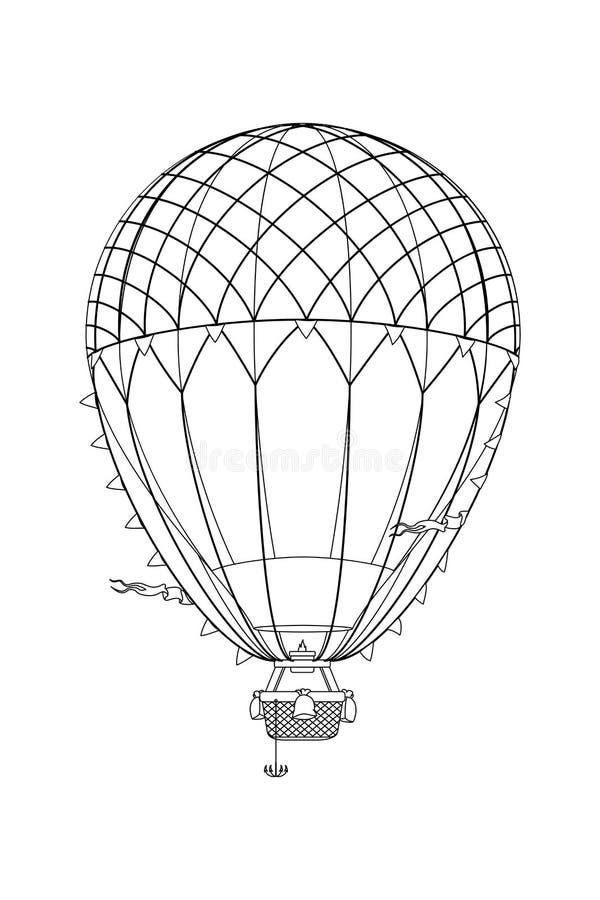 Wektorowego aerostata gorący balon ilustracji