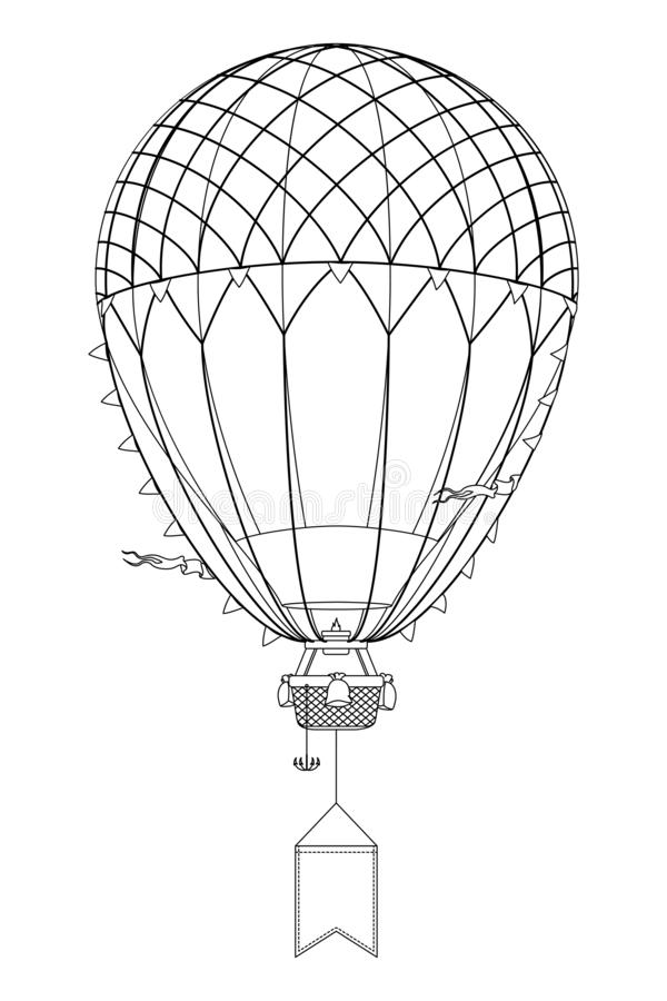 Wektorowego aerostata gorący balon ilustracja wektor