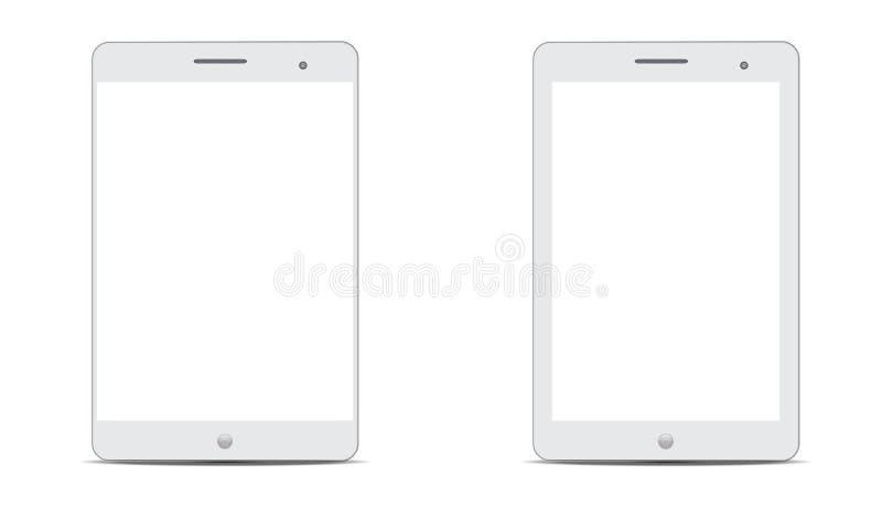 Wektorowego androidu Ipad androidu Realistyczna pastylka ilustracja wektor
