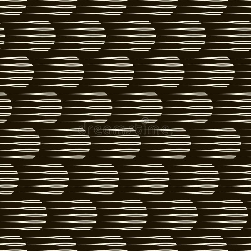 Wektorowego bezszwowego monochromu wzoru nowożytna elegancka tekstura Repea ilustracji