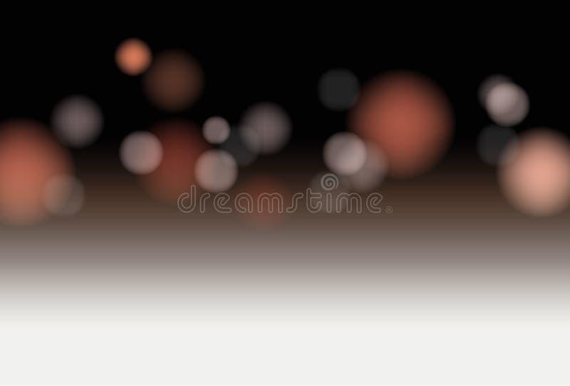 Wektorowego bielu pusta deska z zamazanymi światłami w tle - produktu pokazu egzamin próbny w górę, tło dla twój projekta royalty ilustracja