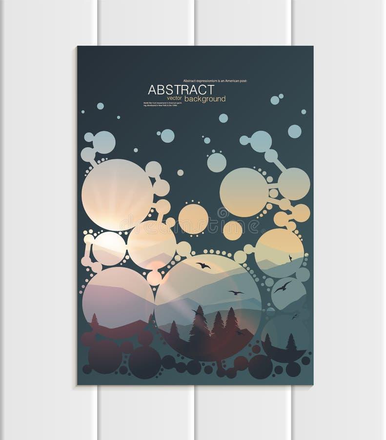 Wektorowego broszurka A5, A4 formata abstrakta okręgi lub projektują elementu korporacyjnego styl royalty ilustracja