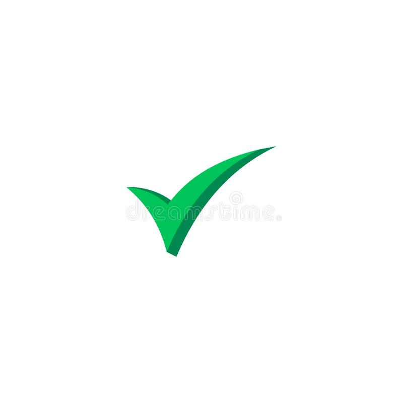 Wektorowego czeka checkmark ikony płaski round prosty ilustracji