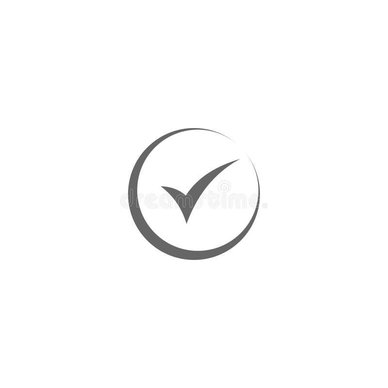 Wektorowego czeka checkmark ikony płaski round prosty royalty ilustracja