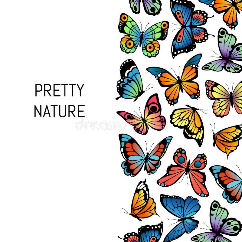 Wektorowego dekoracyjnego motyla tła ilustracyjna ładna natura royalty ilustracja