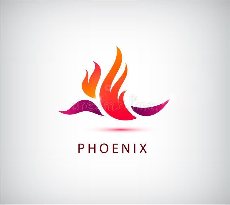 Wektorowego feniksa ptasia ikona, logo, ilustracja Use dla tożsamości ilustracja wektor