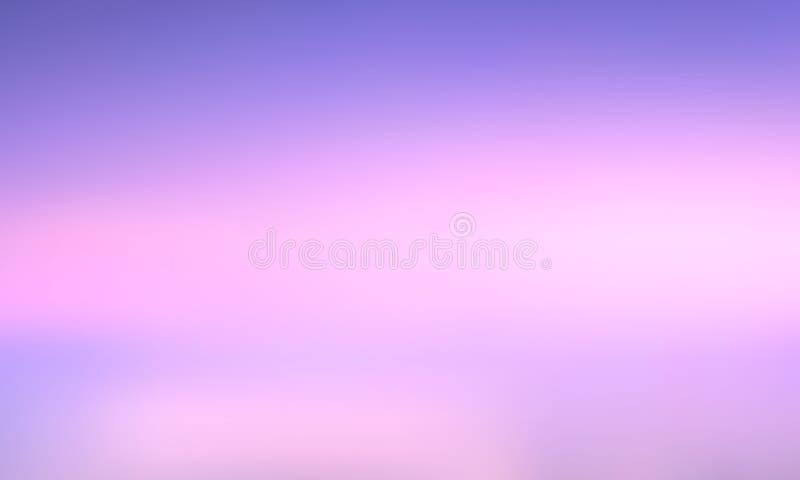 Wektorowego gradientu zamazany tło Naturalny kolor fioletowy niebo ilustracji