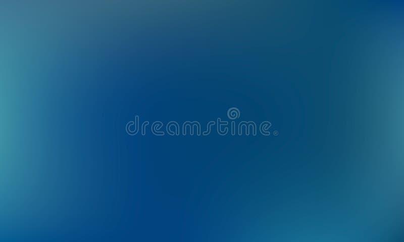 Wektorowego gradientu zamazany tło Naturalny kolor niebieska tła royalty ilustracja