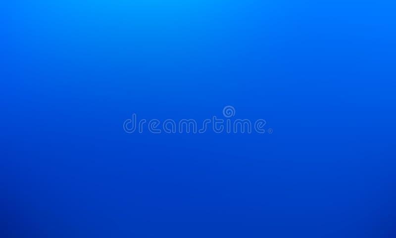 Wektorowego gradientu zamazany tło Naturalny kolor niebieska tła ilustracja wektor