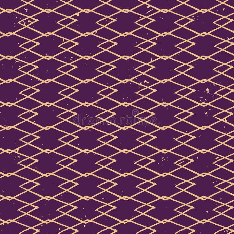 Wektorowego grunge bezszwowy wzór z diamentami struktura abstrakcyjna ilustracji