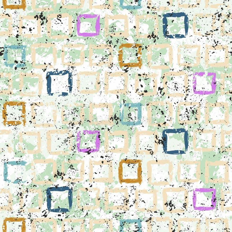 Wektorowego grunge geometryczna tekstura z farbą ilustracja wektor