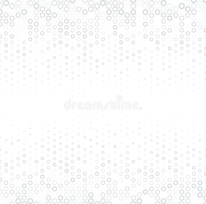 Wektorowego halftone abstrakcjonistyczny tło, popielatego bielu tekstura, gradientowa gradacja Geometryczny mozaika okrąg kształt ilustracja wektor