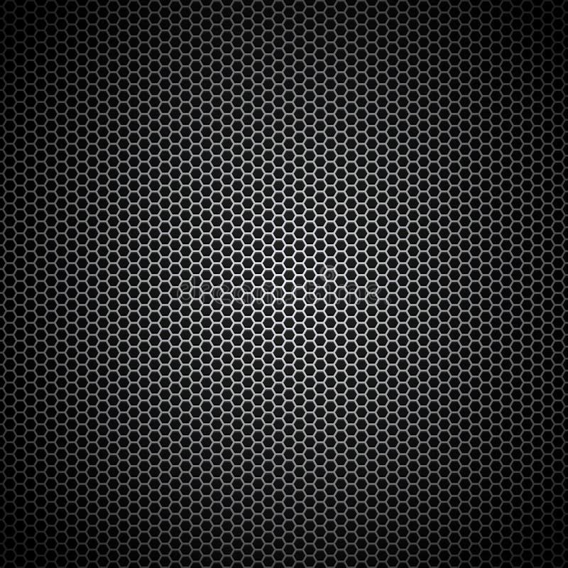 Wektorowego Ilustracyjnego metalu grille wzoru głośnikowa tekstura ilustracja wektor