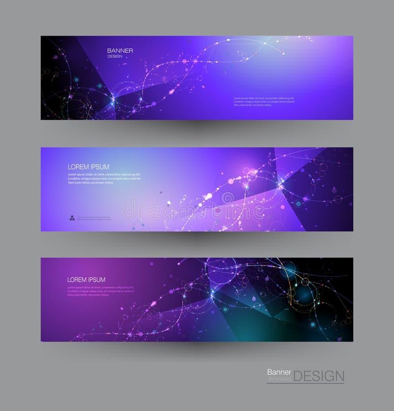 Wektorowego ilustracyjnego projekta koloru futurystyczny gradientowy tło Nowożytny cyfrowy nauki technologii pojęcie dla sztandar ilustracja wektor