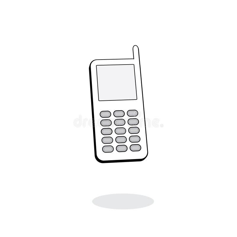 Wektorowego ilustracyjnego telefonu trzy wymiarowego projekta biały kolor ilustracji