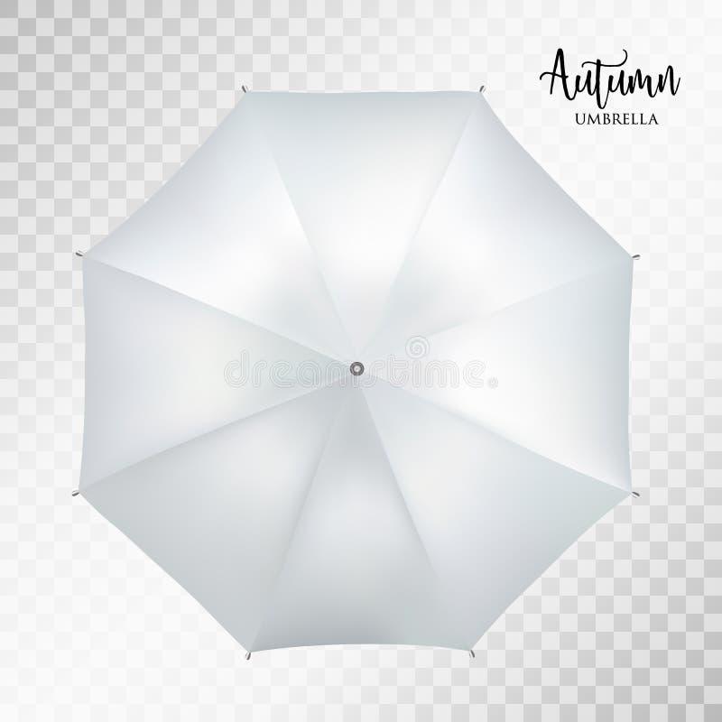 Wektorowego klasyka round popielatego deszczu parasolowy odgórny widok tło przejrzysty ilustracji