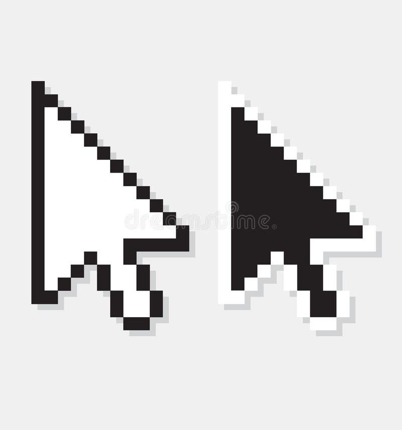 Wektorowego komputeru strzała royalty ilustracja