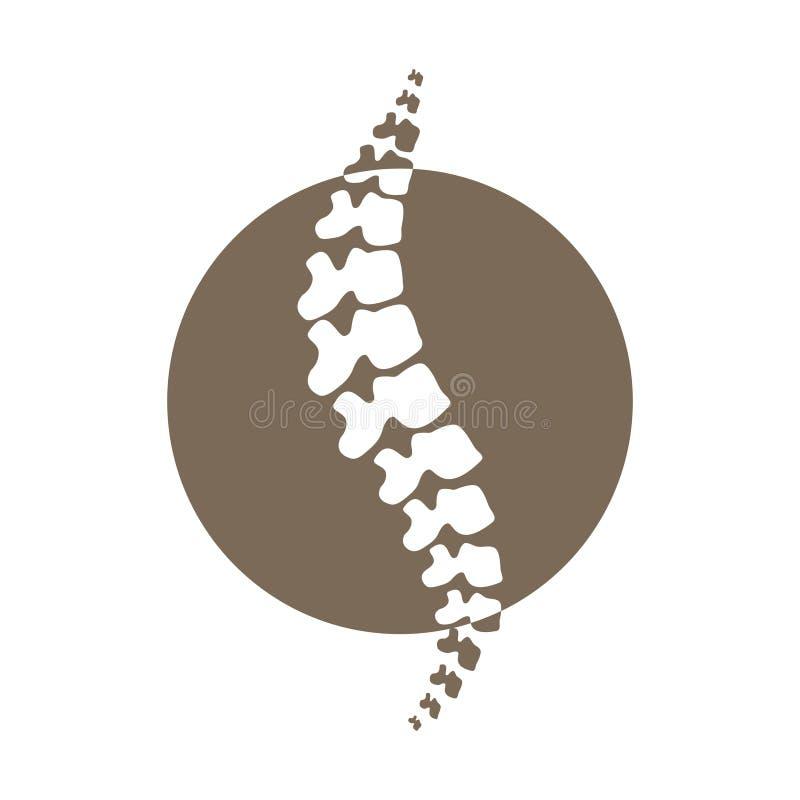Wektorowego kręgosłupa sylwetki odosobniona ilustracja obrazy stock