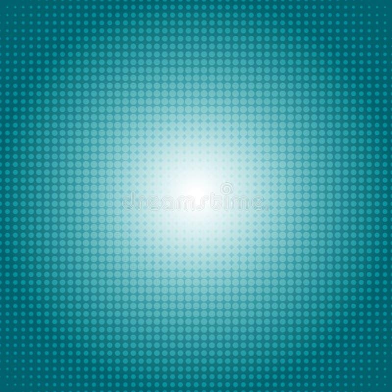 Wektorowego kropka gradientu zieleni halftone wzoru tła abstrakcjonistyczny pojęcie royalty ilustracja