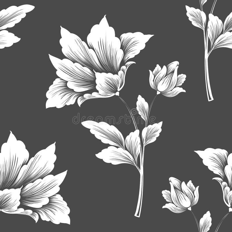 Wektorowego kwiatu bezszwowy deseniowy element Elegancka tekstura dla tło ilustracja wektor