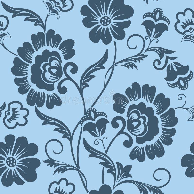 Wektorowego kwiatu bezszwowy deseniowy element Elegancka tekstura dla tło Klasyczny luksusowy staromodny kwiecisty ornament ilustracji