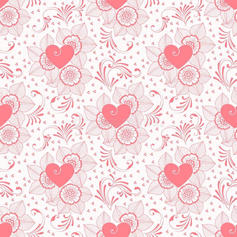 Wektorowego kwiatu bezszwowy deseniowy tło Elegancka tekstura dla tło Klasyczny luksusowy staromodny kwiecisty royalty ilustracja