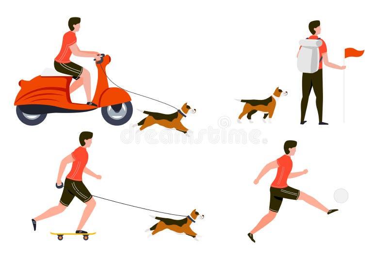 Wektorowego lato sporta ustalona jazda, podwyżka, sztuka, rolka ilustracja wektor