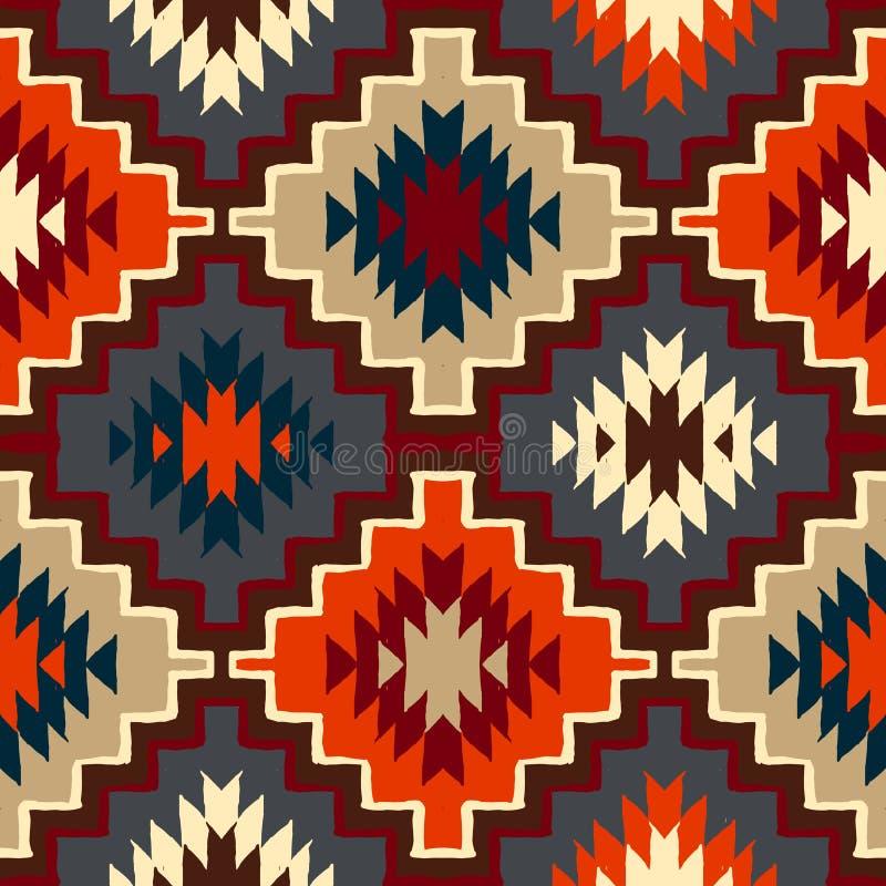 Wektorowego navajo plemienny ornament royalty ilustracja