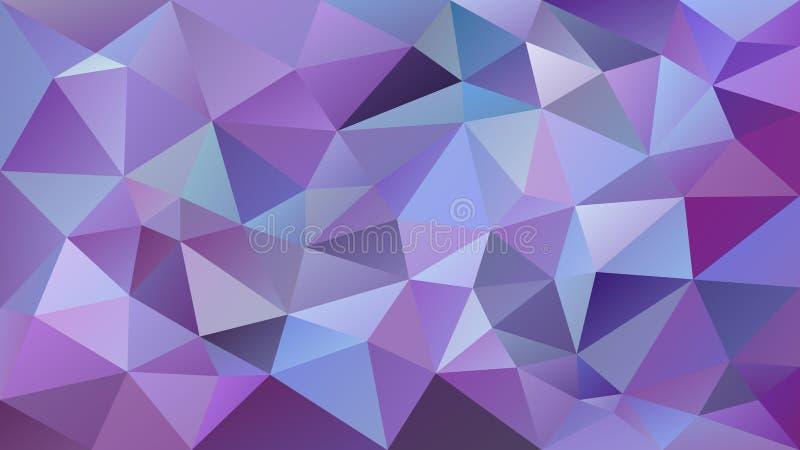Wektorowego nieregularnego poligonalnego tła ultrafioletowe, lawendowe i jaskrawe purpury, barwią - trójboka niski poli- wzór - royalty ilustracja