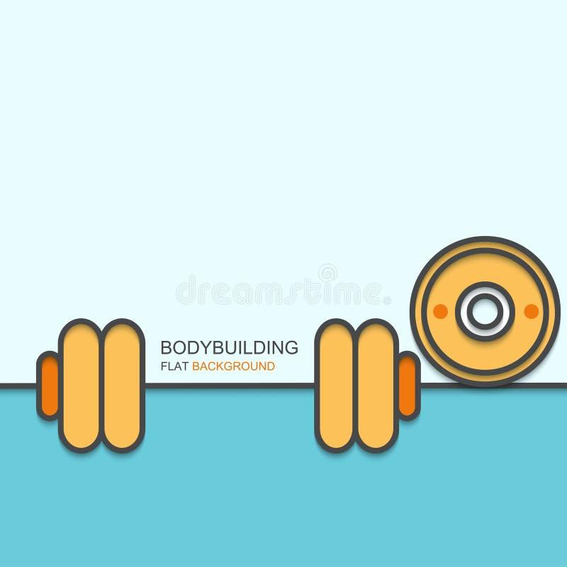 Wektorowego nowożytnego konturu płaski projekt bodybuilding ilustracja wektor
