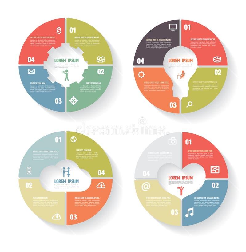 Wektorowego okręgu infographic set ilustracja wektor