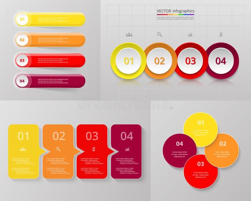 Wektorowego okręgu infographic set royalty ilustracja