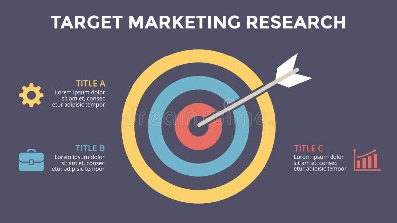 Wektorowego okręgu strzałkowaty infographic, cyklu diagram, wykres, prezentaci mapa Celu szlagierowy marketingowy badanie Biznes ilustracji