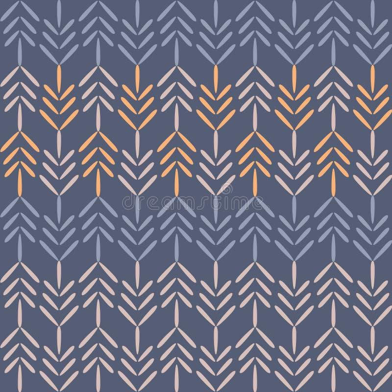 Wektorowego Purpurowego lasu szewronu Bezszwowy Deseniowy tło ilustracja wektor