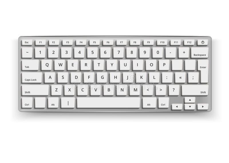 Wektorowego realistycznego desktop mockup 3d klawiaturowy czerń royalty ilustracja
